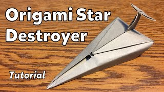 getlinkyoutube.com-Origami Imperial Star Destroyer (Star Wars) | Tutorial