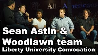 getlinkyoutube.com-Sean Astin & Woodlawn Team - Liberty University Convocation