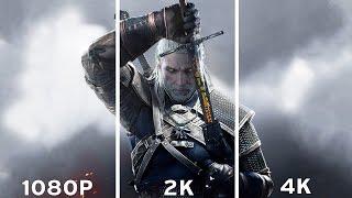 getlinkyoutube.com-The Witcher 3: Wild Hunt - 1080p vs 2K vs 4K Graphics Comparison 4K