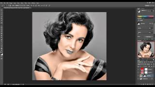 getlinkyoutube.com-Photoshop Tutorial: How to colorize black and white photos - Extended Tutorial