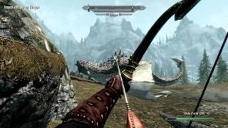 getlinkyoutube.com-Skyrim Elder scrolls - The coolest Archery montage !  gameplay