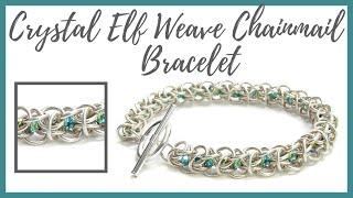 getlinkyoutube.com-Crystal Elf Weave Chainmail Bracelet Tutorial - Beaducation.com