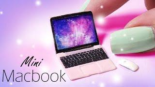 getlinkyoutube.com-Cute Miniature Macbook (Inspired) // Dolls/Dollhouse DIY