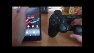 getlinkyoutube.com-Sony Xperia M2 Aqua jogando The Amazing Spider Man 2 com controle PS3
