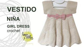 getlinkyoutube.com-Tutorial Vestido Crochet o Ganchillo Niña ZigZag