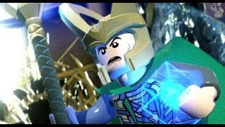 getlinkyoutube.com-LEGO Marvel Super Heroes 100% Walkthrough Part 7 - Bifrosty Reception (Loki Boss Fight)
