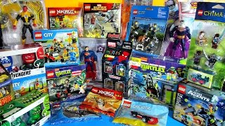 LEGO & Marvel Minimates Justice League & Avengers Age of Ultron TMNT Epic Toy Haul 1st Qtr 2015