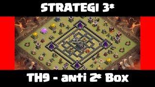 getlinkyoutube.com-Clash of Clans - Strategi 3 star Internet base - Anti 2* Box TH9 [Penjelasan detail dan Replay]