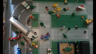 getlinkyoutube.com-Lego City Fire response 2 + emergency vehicles
