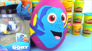 getlinkyoutube.com-Disney Pixar Finding Dory Giant Play Doh Surprise Egg