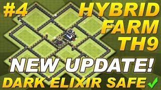 getlinkyoutube.com-NEW UPDATE Town Hall 9 (TH9) Hybrid Farming Base Dark Elixir & Replays -Clash of Clans CoC Setup #4