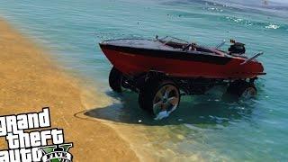 getlinkyoutube.com-Monster Truck Boat Mobile Mod - GTA 5 PC