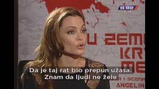 getlinkyoutube.com-B92 Interview on Serbian - Angelina Jolie  (In the Land of Blood and Honey) 2012