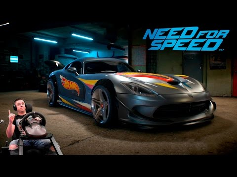 Американский нагибатор - Dodge Viper SRT - Need For Speed 2016 на руле Fanatec Porsche 911 GT2