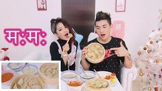 Nepali chicken Momo (म:म:) Dumplings ll Tseley & Yeshidon