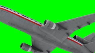 getlinkyoutube.com-best animated plane flying in green screen HD
