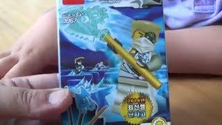 getlinkyoutube.com-decool 레고 닌자고 쟌 Zane 중국 짝퉁 피규어 장난감 소개와 조립하는 모습