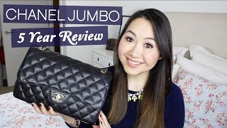 getlinkyoutube.com-Chanel Jumbo 5 Year Review: Wear & Tear, Price Increases etc!