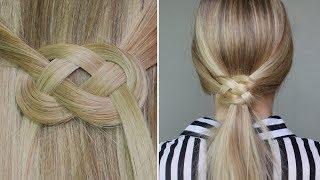 getlinkyoutube.com-✄ Demi-queue ou queue de cheval avec noeud infinity ♥ noeud marin