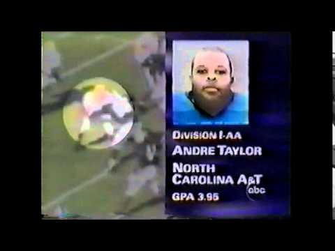 Andre Taylor Burger King Scholar Athlete of the Week 1995