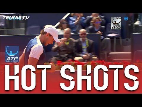 Thiem Rips Forehand Hot Shot Off Smash In Barcelona 2017