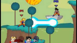 getlinkyoutube.com-Super Smash Flash 2 Character Moves Goku