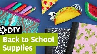 getlinkyoutube.com-DIY Back to School Supplies: Pencil Case, Cord Taco & Mini Notebooks   Sea Lemon