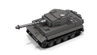 getlinkyoutube.com-Lego WWII Tiger 1 Instructions (FULL INTERIOR)