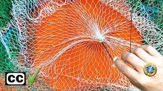 Final tejido de Atarraya RED de PESCA ( Cast net )