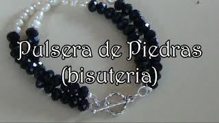 getlinkyoutube.com-Pulsera de Cristales - Bisuteria en español