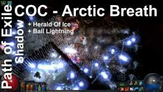 getlinkyoutube.com-Path of Exile - COC Shadow Arctic Breath + Herald Of Ice + Ball Lightning