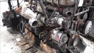 getlinkyoutube.com-2009 Detroit Diesel DD15 Diesel Engine Running