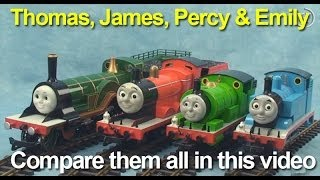 getlinkyoutube.com-Thomas and Friends, Thomas the Tank Engine, Percy, James and Emily:  See them all together