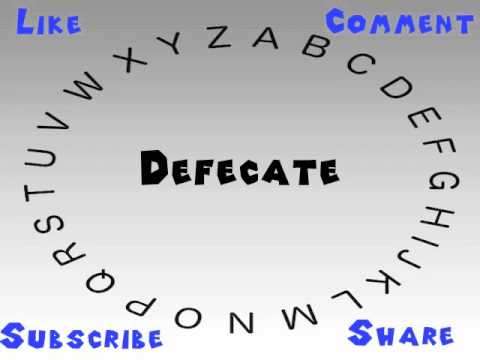 How to Say or Pronounce Defecate