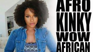 getlinkyoutube.com-Slay with this Afro Kinky Curly lace wig :II: WowAfrican