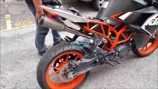 KTM RC200 PowerTRONIC ECU & Custom Exhaust - Motodynamics Technology Malaysia