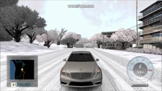 getlinkyoutube.com-Test Drive Unlimited Winter Mod : drive mercedes E63 amg