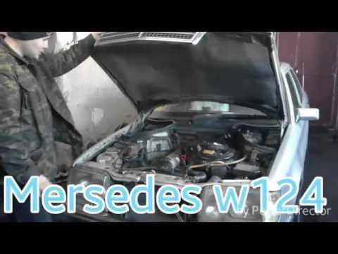 Mersedes w124 103 мотор замена прокладки клапанной крышки