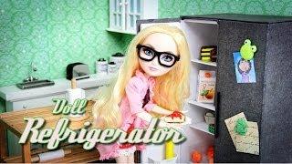 getlinkyoutube.com-DIY - How to Make: Doll Refrigerator - Handmade - Doll - Crafts