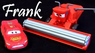 getlinkyoutube.com-Tractor Tipping playset Lightning Mcqueen Disney Pixar Cars 2 tractors tippin review Blucollection