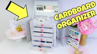 getlinkyoutube.com-Original and creative Ideas(cardboard organizer)jewelry holder