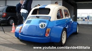 getlinkyoutube.com-+200 HP Fiat 500 with Suzuki Hayabusa Gsx-R1300 engine: sound and track