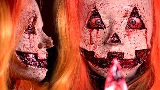 getlinkyoutube.com-JACK-O-LANTERN Halloween Makeup Tutorial