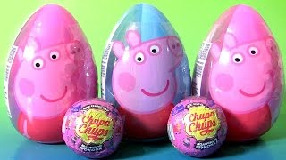 Giant Peppa Pig Egg Surprise with Chupa Chups Peppa Pig Choco Surprise by Funtoys