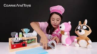 getlinkyoutube.com-캐리의 키즈쿡 스파게티 요리사 장난감 소꿉놀이 CarrieAndToys
