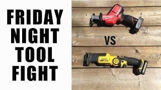 getlinkyoutube.com-Milwaukee VS DeWALT 12V Reciprocating Saws - Friday Night Tool Fights