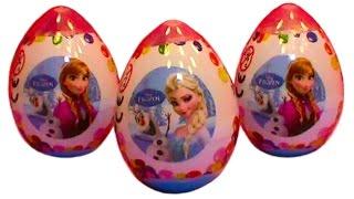 getlinkyoutube.com-Frozen plastic surprise eggs toys Zaini unboxing Huevos sorpresa congelados juguetes