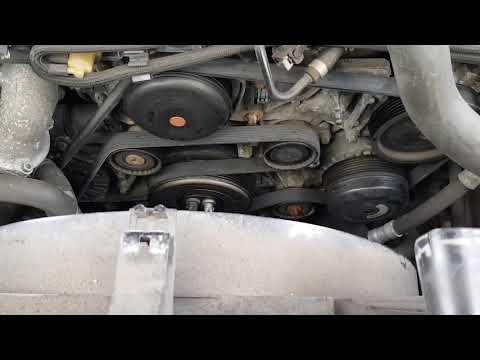 Mercedes W212 E250 serpentine v- belt change