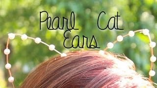 getlinkyoutube.com-Pearl Cat Ears ♥ DIY