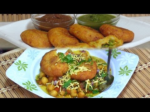 Chole Tikki Chaat Recipe Video by Bhavna - Indian Street Food/Snacks Collaboration